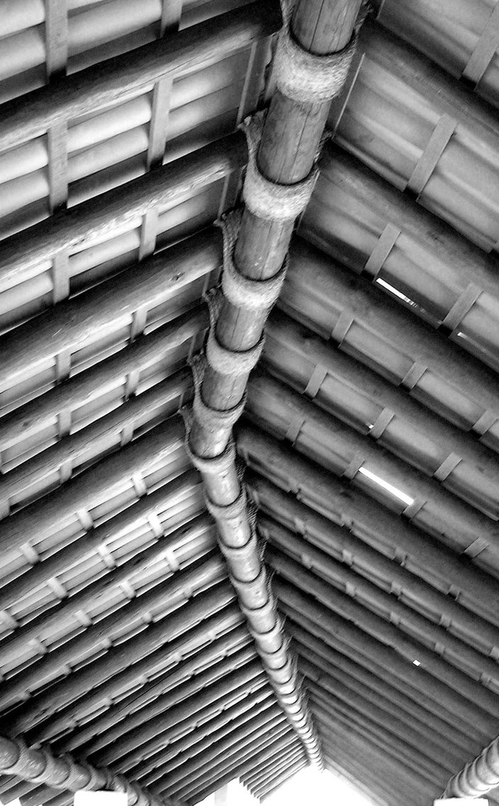 Bamboo structure the bamboo structure is suited - Roof Bamboo Construction