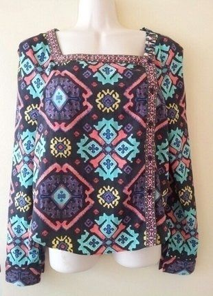 Buy my item on #vinted http://www.vinted.com/womens-clothing/blouses/3365463-rachel-roy-mixed-print-top