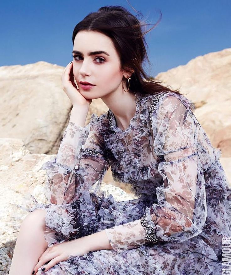 Lily Collins for Glamour Mexico. June. 2017.