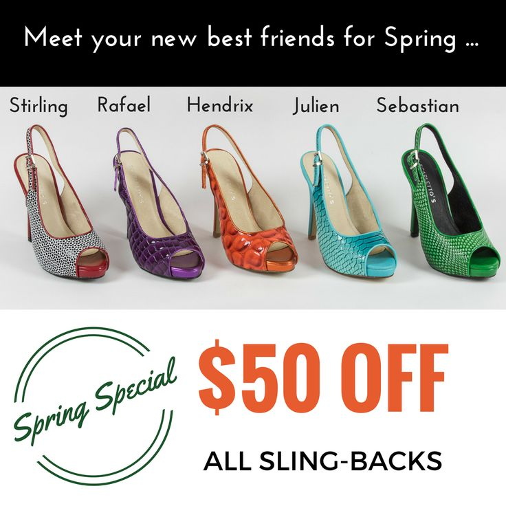 Looking to add some zing to your Spring wardrobe? Take advantage of this very special offer and brighten your spirits and closet this Spring. Stylish AND comfortable, you can't go wrong! Use Code SPRINGLOVE at checkout. *Jump in while stocks last. #shoesale #scarlettos #ShoesForWideFeet #ShoesForBigFeet #ColourfulShoes