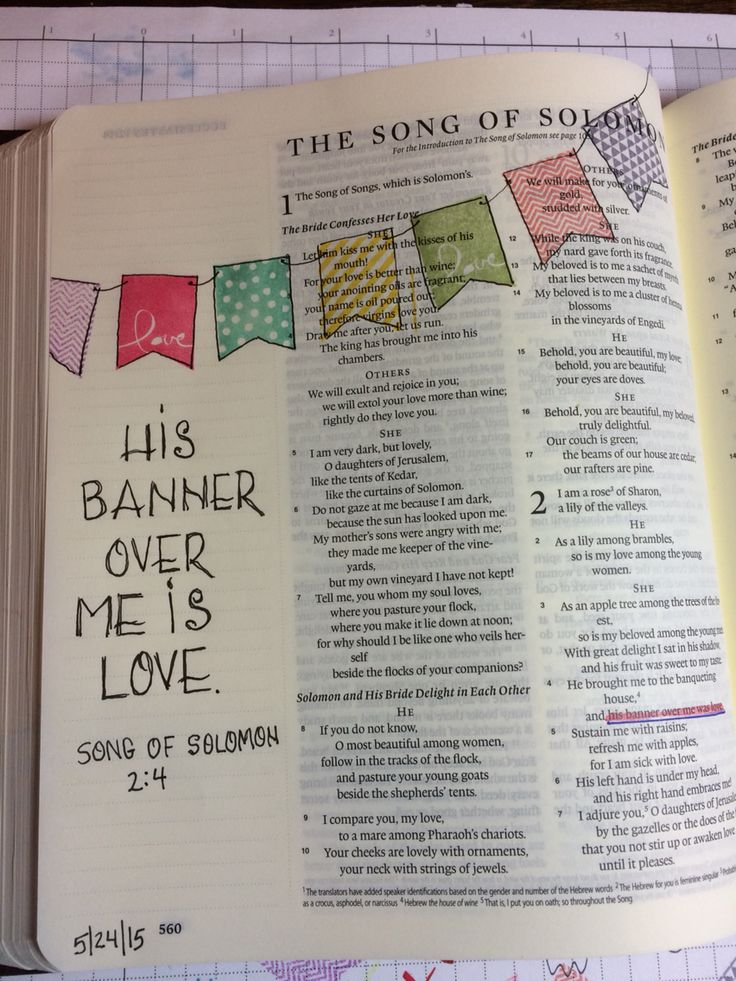 2nd verse Song of Solomon 2:4