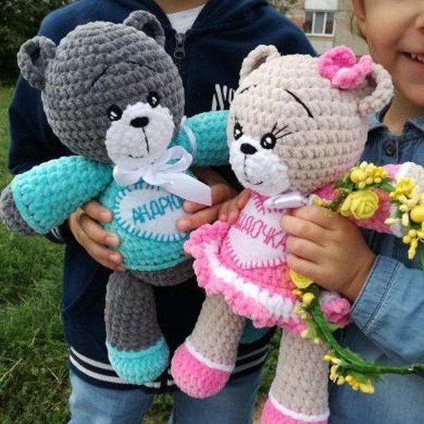 Honey the Teddy Bear Girl Amigurumi Crochet Pattern | 612x612