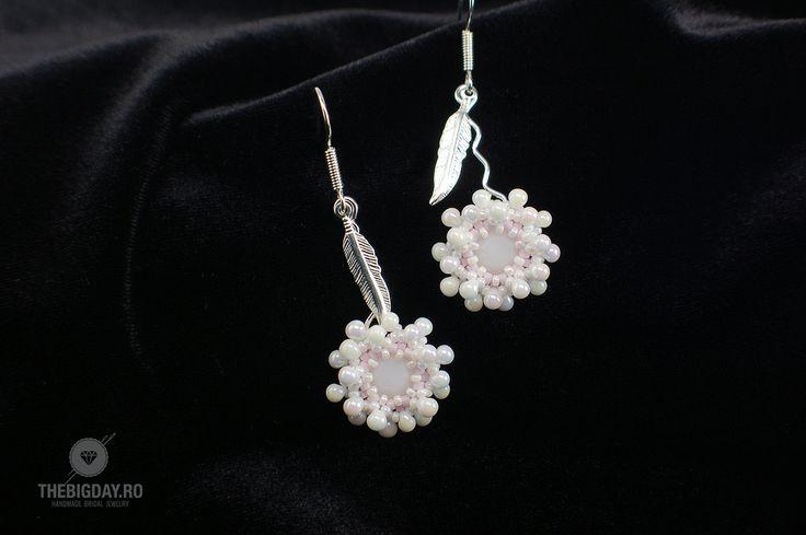 The Big Day | #1-0037 Cercei Swarovski Rose Flower http://thebigday.ro/ #Swarovski #swarovskijewelry #jewelry #handmadejewelry #wedding #mireasa #bijuterii #cristale #bijuteriimireasa #nunta