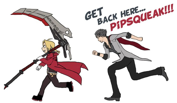 Get Back Here Pipsqueak [RWBY / FMA:B] by EmeraldGuardian7
