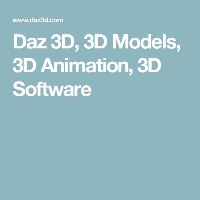 Daz 3D, 3D Models, 3D Animation, 3D Software