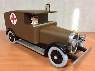 camion ambulance tintin en amérique fabrication bois style Vilac aroutcheff