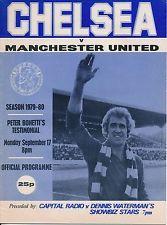 CHELSEA v Man Utd (Peter Bonetti Testimonial) programme 1979
