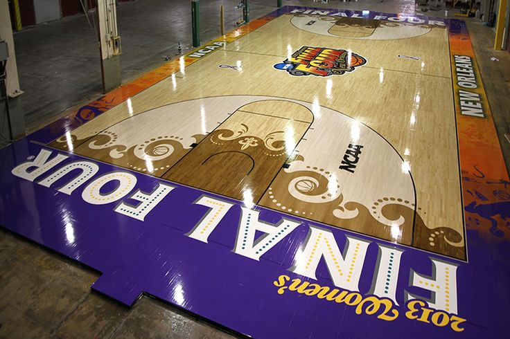 Praters Flooring unveils another work of art for the NCAA Women's Final Four in New Orleans ...