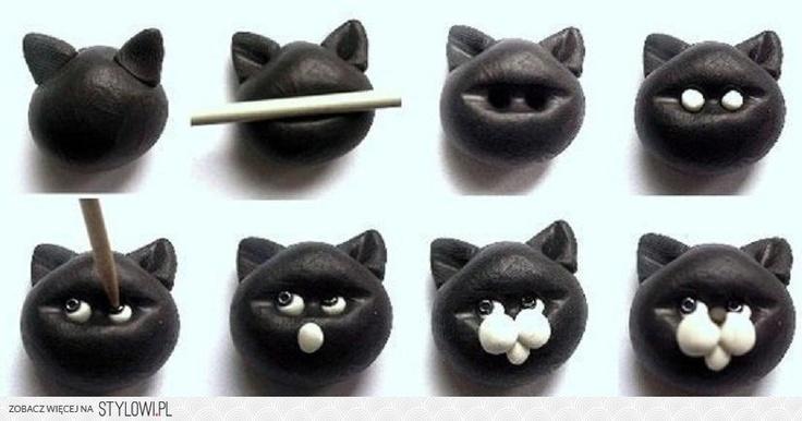 DIY Polymer Clay Cat Face DIY Projects | UsefulDIY.com na Stylowi.pl