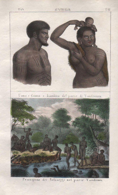 1840 Australia Tasmania Van Diemens Land Aborigines Lithograph Antique Natives | eBay