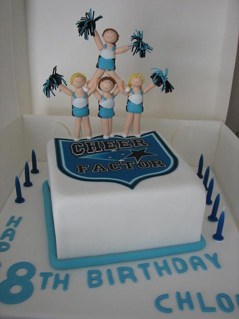 Cheerleading cake, via Flickr. 13