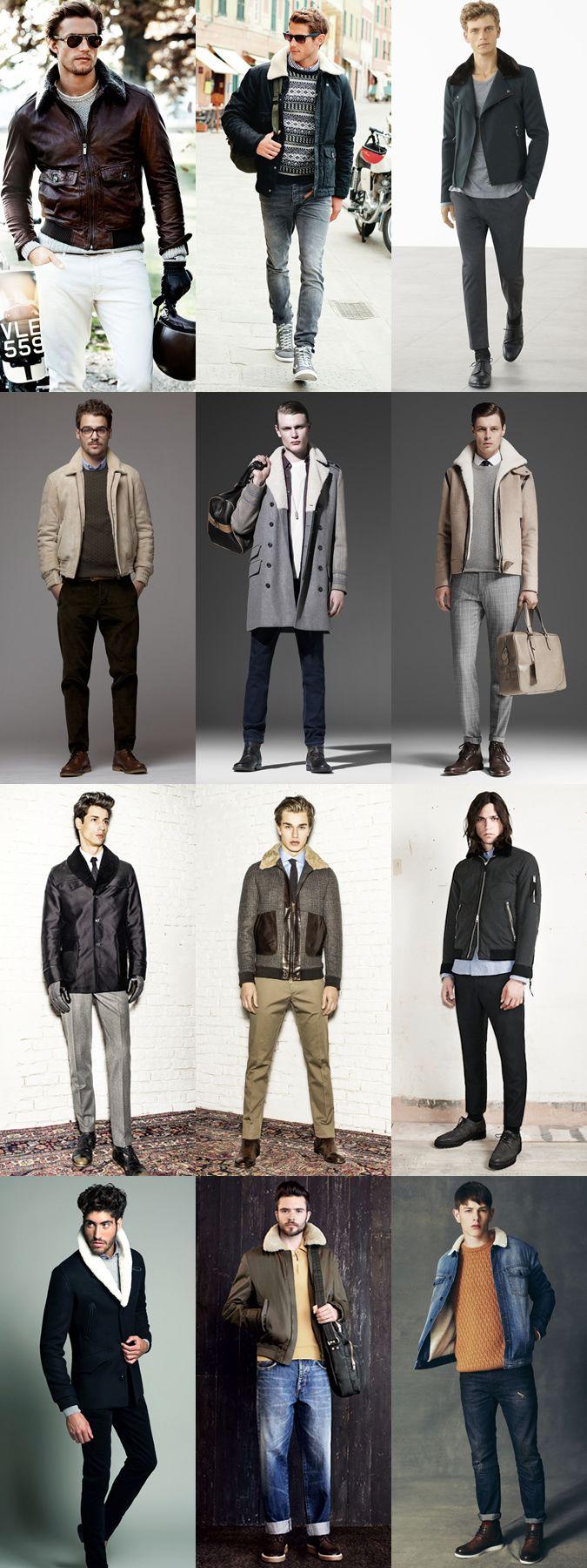 Men's Faux Fur/Borg Collar Jacket Lookbook