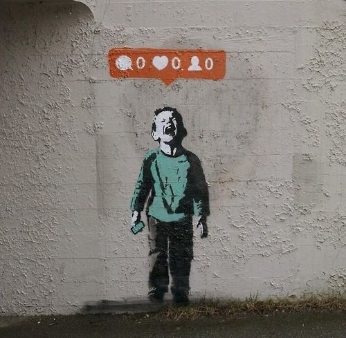 Banksy - Neglect/Social Media