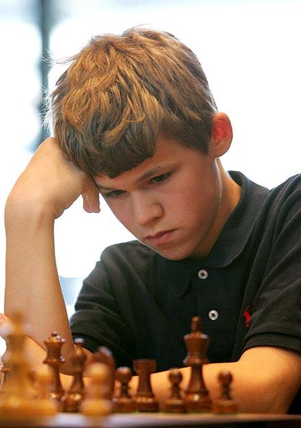 Norvegian chess prodigy        GM Magnus Carlsen
