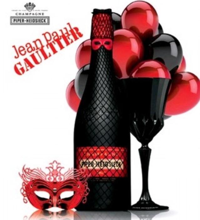 Piper Heidsieck champagne bottle designed by Jean Paul Gaultier