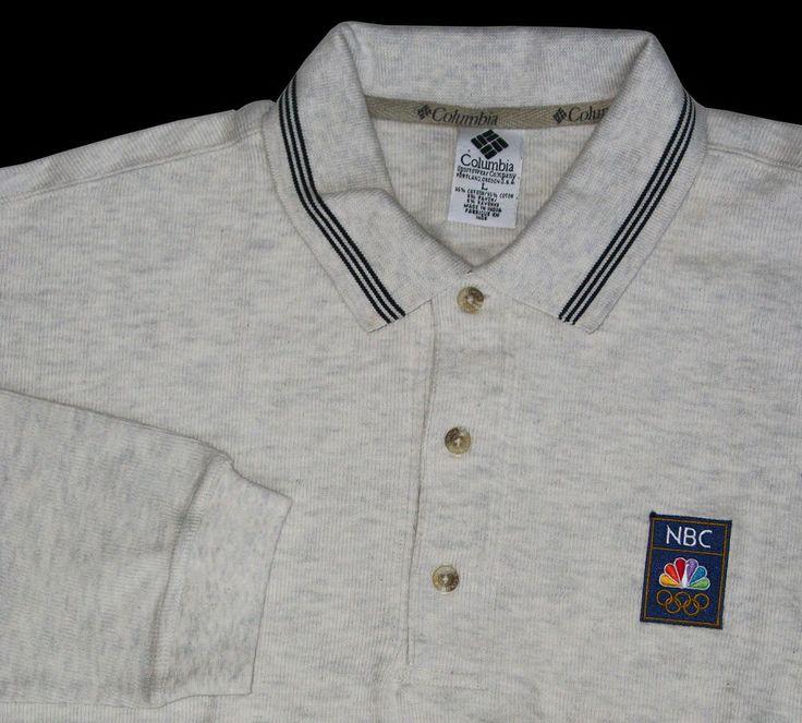 NBC Olympics Columbia Sportswear L/S Polo Shirt L  NW