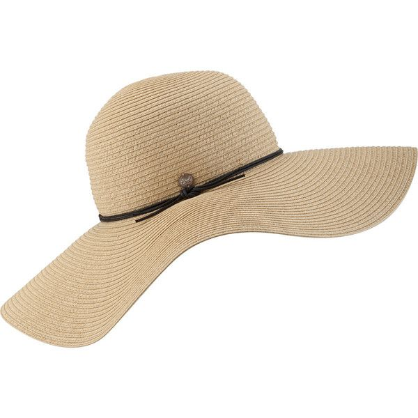 Coal Considered Seaside Hat (£20) ❤ liked on Polyvore featuring accessories, hats, floppy beach hat, coal hats, floppy hats, paper straw hat and beach hats