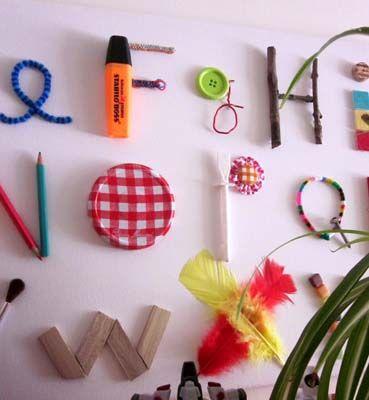 Un abecedaire avec des objets du quotidien