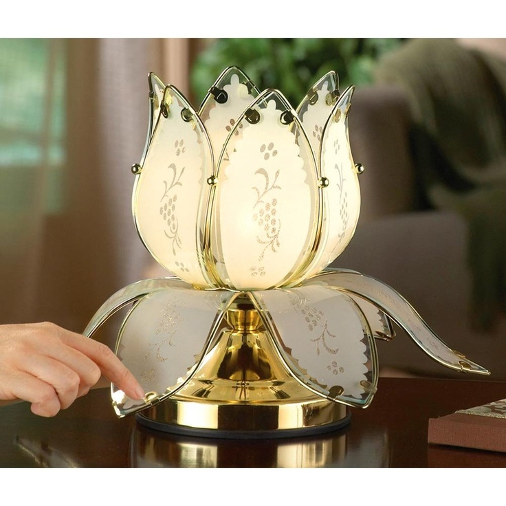 Lotus blossom desk and table touch lamp bedroom