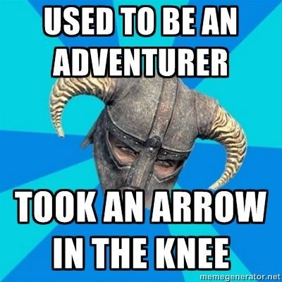 Because every guard in Skyrim used to be a grand adventurer...until they each took an arrow to the knee.