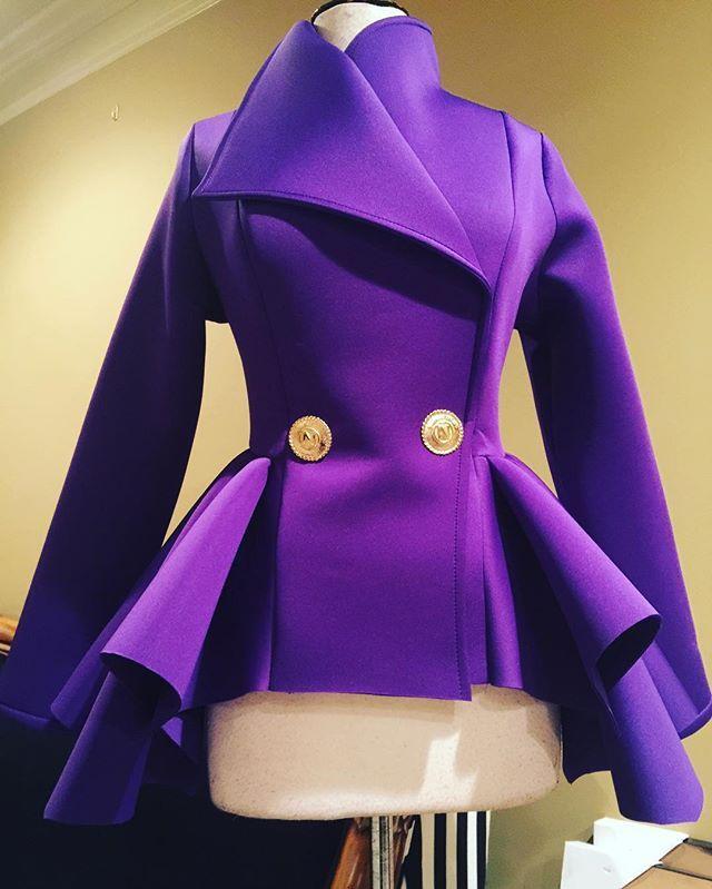 Lady Peplum Jacket #niccihoucollection #niccihou #yourpurplemajesty