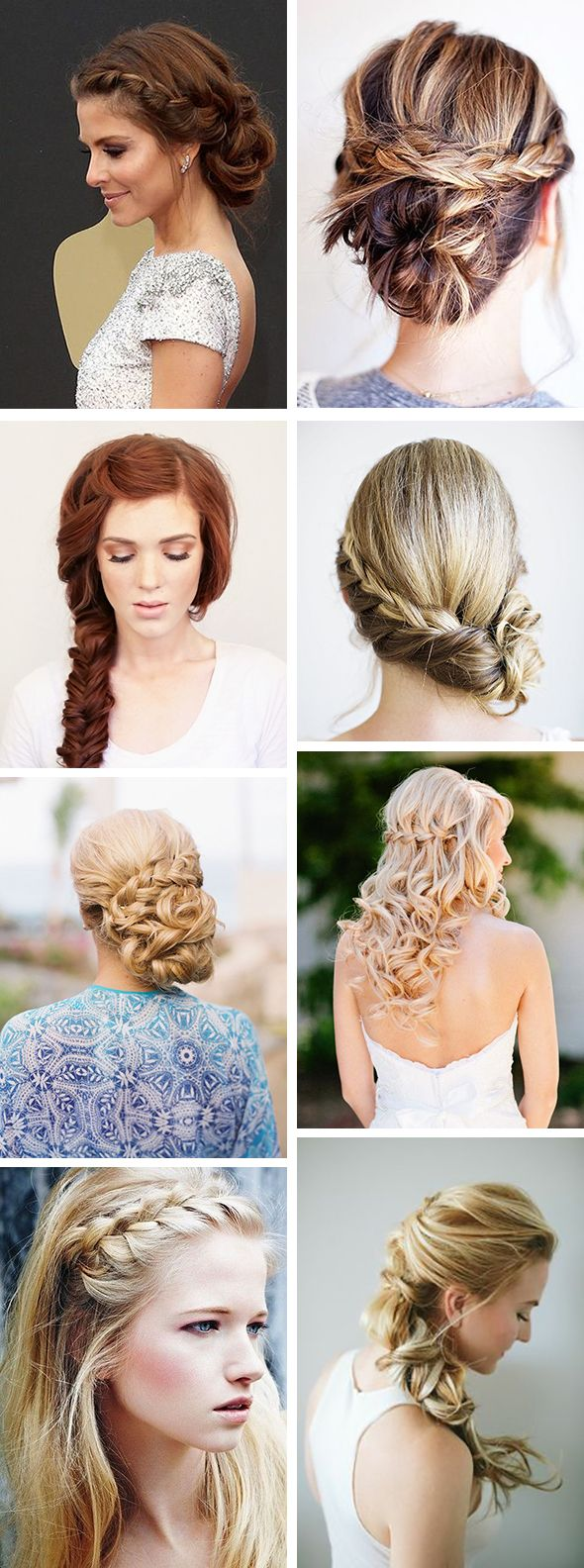 braid wedding hair styles Braided Hair Styles for Your Beach Wedding