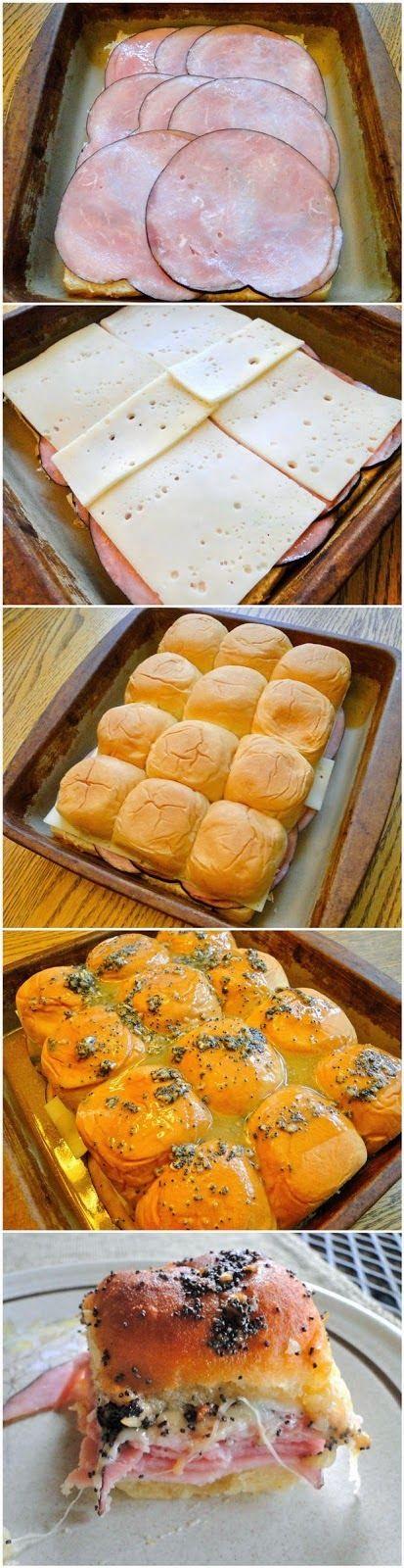 How To Make Ham & Swiss Sliders
