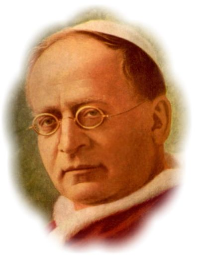 POPE PIUS XI   Article 77 of the Goldstein letters, and includes a list of 20 Churches and their time of origin!