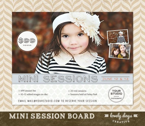 Photography Mini Session Template Board by LovelyDaysCreative, $8.00