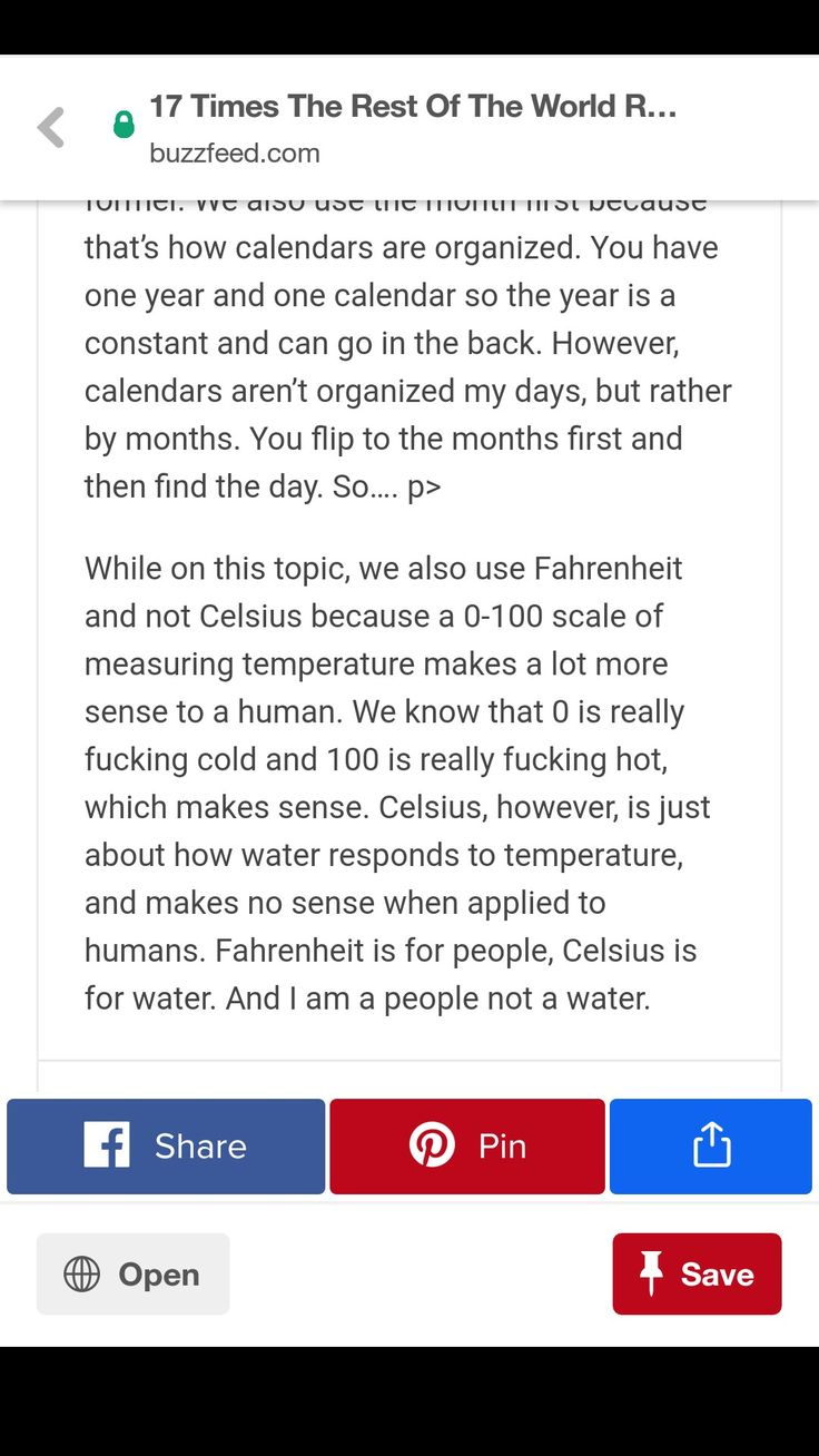 Yes because measure temperature using the point at which sea water freezes as 0 and  a sweaty armpit as 100 is a highly accurate scale and is easily applicable to all other things. 'cause you know it's not like Kelvin's can't be easily converted to Celsius