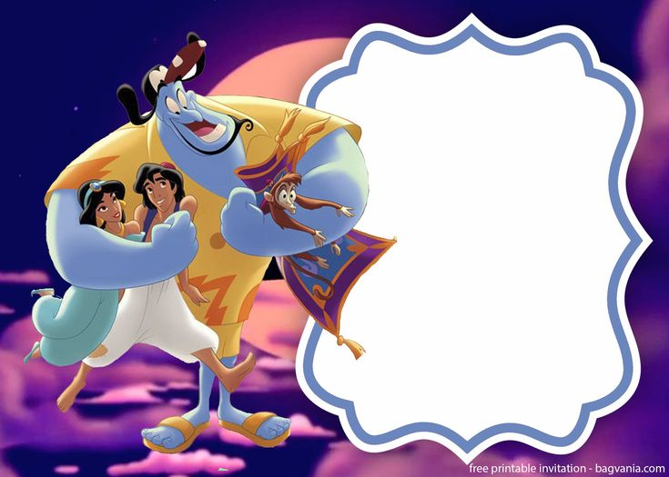 free printable aladdin and jasmine invitation template