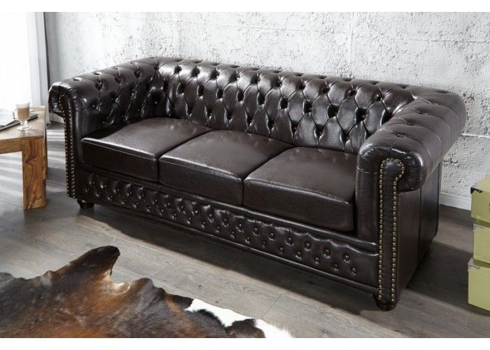 Chesterfield Dark Big Sofa  #furniture #vintage #vintagecollections #homedecor #interiordesign #housegoals  #irenesworld #home