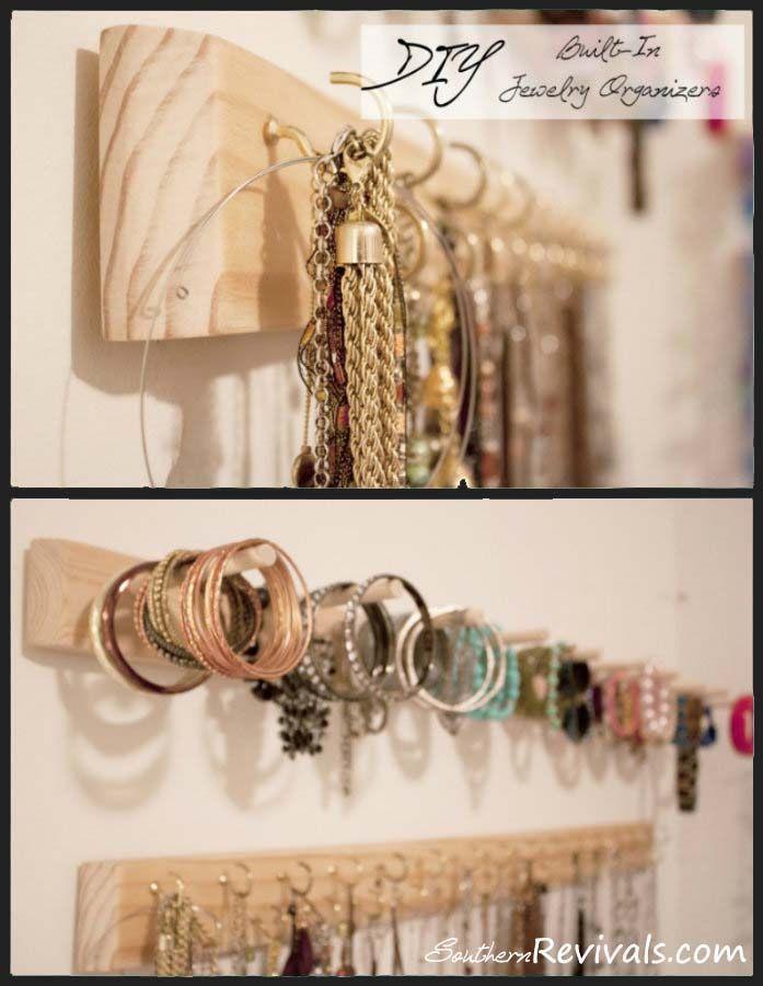DIY Built In Jewelry Organizer 18 best jewelry