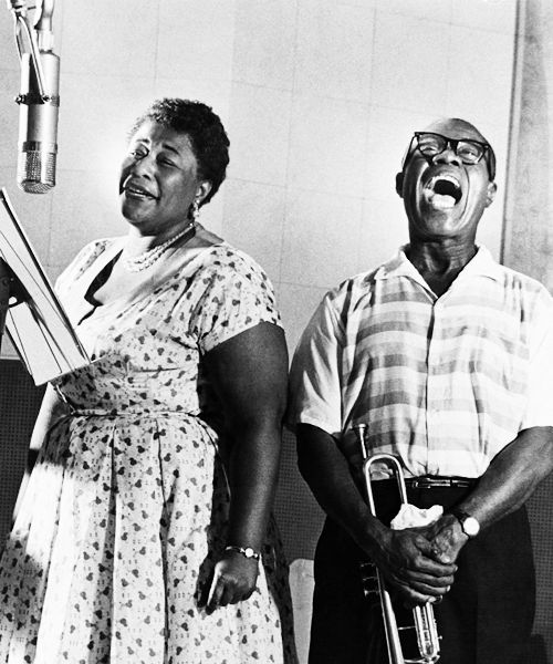ella fitzgerald and louis armstrong, from snippet & ink.
