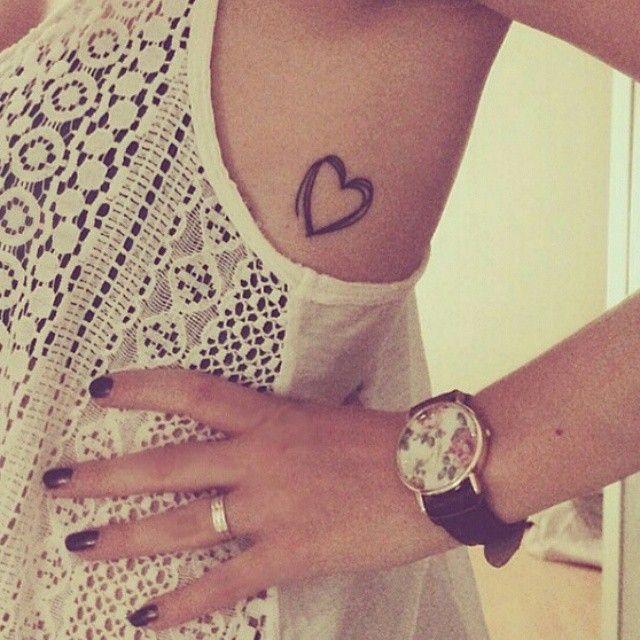 "319 Likes, 25 Comments - Small Tattoos (@small.tattoos) on Instagram: ""#Heart #tattoo behind the armpit on @_liisa21 #smalltattoo #girls #women #love #life #fashion…"""