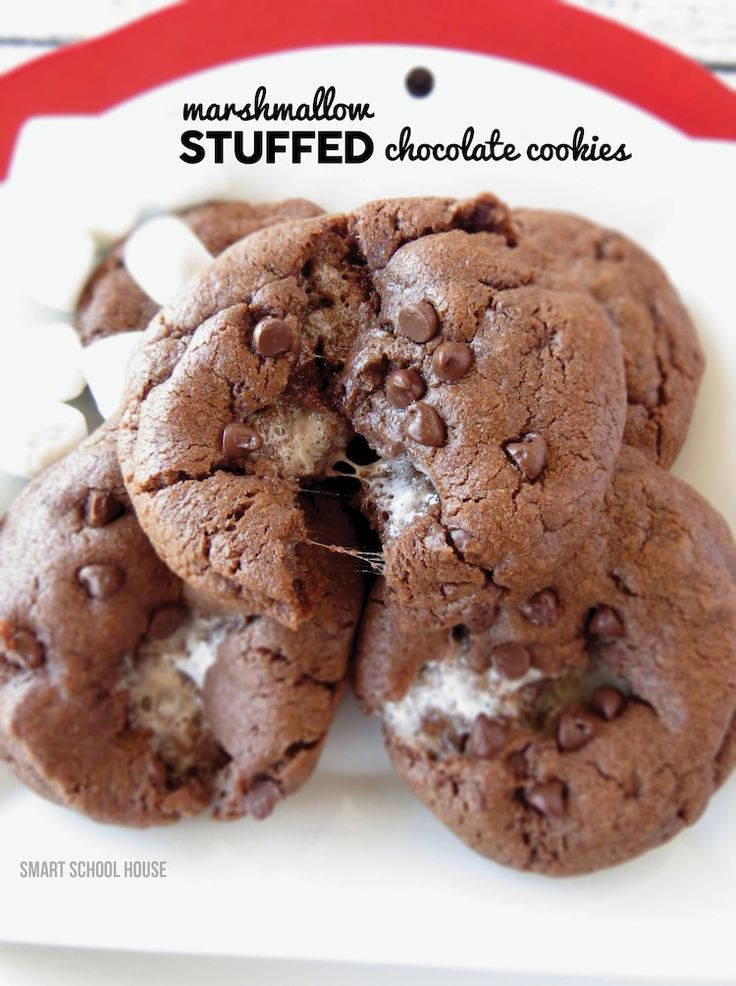 Marshmallow Stuffed Chocolate Cookies
