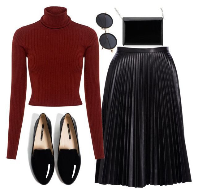 """Red. Casual."" by andronic-otilia ❤ liked on Polyvore featuring Cusp by Neiman Marcus, A.L.C. and Nine West"