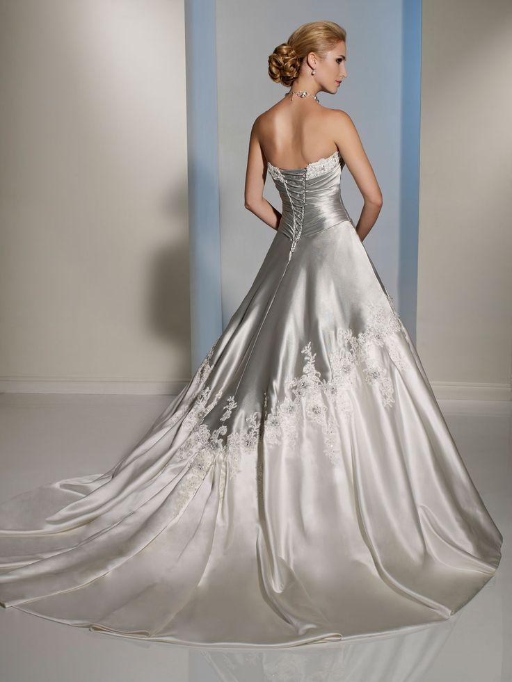 Strapless Lace Appliqués Bridal Dress Sophia Tolli Adelita Y11203: DimitraDesigns.com