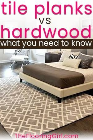 Pros And Cons For Hardwood Floors Vs Tile Planks That Look Like Flooring Tileplanks Hardwoodfloors