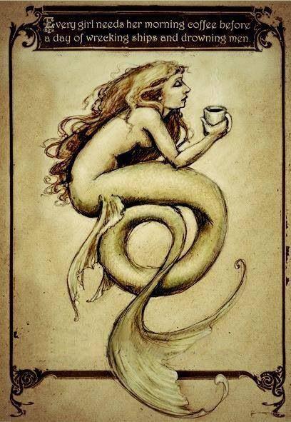 Coffee mermaid