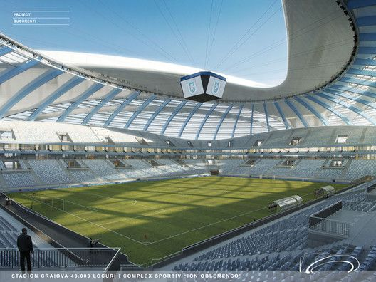Craiova Football Stadium Proposal,Courtesy of Proiect Bucuresti