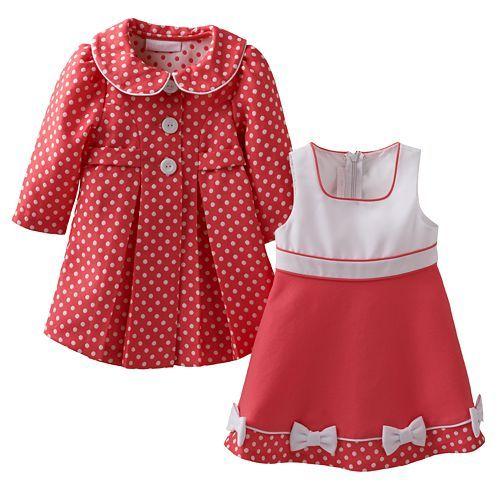 Bonnie Jean Polka Dot Jacket & Dress Set Baby Girl Kohl