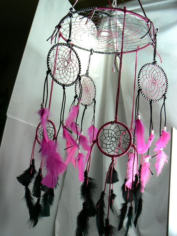 Dream Catcher Mobile - make this, but GIANT, and then hang above bed on ceiling. would be so cool to look up at every night