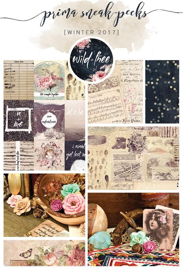 Be WILD and be FREE!!  Wild & Free designed by Frank Garcia, is all about loving life and savoring every moment. Featuring beautiful indigo, rose gold, and gorgeous floral and vintage patterns, this gorgeous collection is sure to be your go-to for any project you have in mind! #winter2017 #newcollection