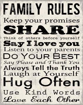 New Picture I just bought myself for Christmas...A good reminder for my children.Decor, Wall Art, Ideas, Inspiration, Quotes, Living Room, House, Family Rules, Families Rules