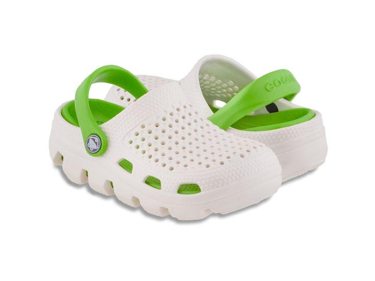 Chodaki Coqui Bugy Biały/Zielony