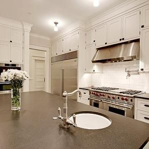 Paul Moon Design Kitchens Honed, Black, Granite, Countertops, White,