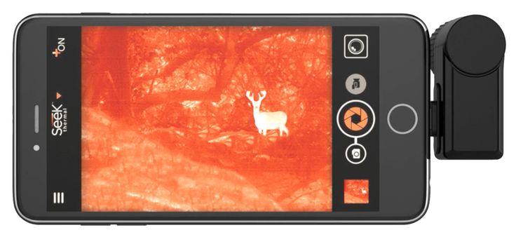 Seek Thermal Compact XR - Extended Range Wärmebildkamera Nachtsicht im Gelände...  Der weite Blickwinkel von 20 Grad eignet sich besonders für Outdoor und im Gelände.   Sie funktioniert bei völliger Dunkelheit, am hellichten Tag und bei schlechten Sichtverhältnissen  Einfach mit Ihrem Smartphone verbinden und App herunterladen, um Infrarot-Strahlung/Temperaturunterschiede visuell mit wählbaren Falschfarben darzustellen ...