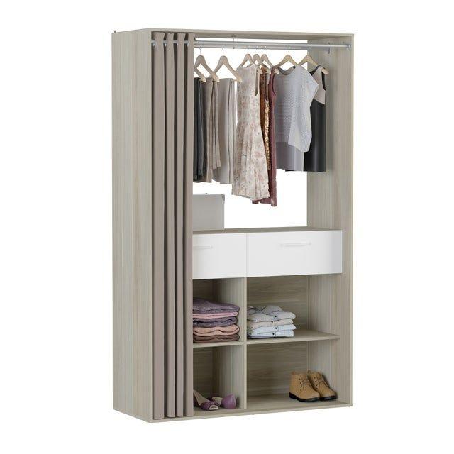 Kit Dressing Effet Chene Shop H 206 5 X L 123 1 X P 50 Cm En 2020 Dressing Kit Et Deco