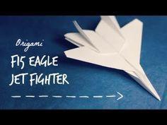 Origami avion de chasse : tutoriel vidéo